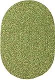 Sabrina Tweed Indoor/Outdoor Oval Braided Rug, 5 by 8-Feet, Bay Leaf