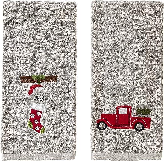 SKL Home by Saturday Knight Ltd Gray Enjoy Today 2 Pc Hand Towel Set
