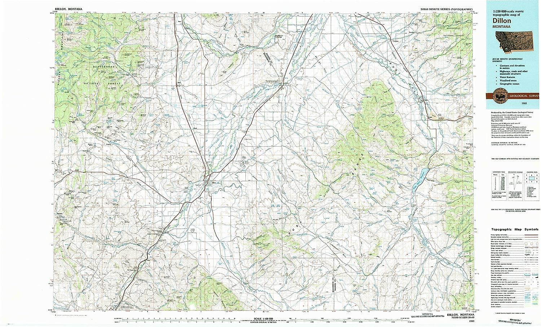 Amazon Com Dillon Mt Topo Map 1 100000 Scale 30 X 60 Minute