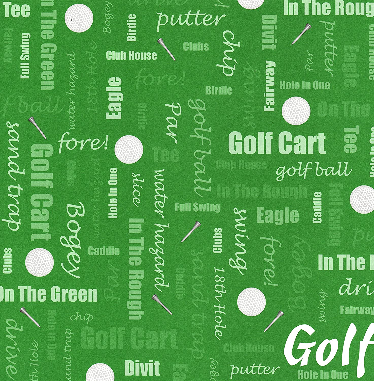 Golf Words 12 Inch X Scrapbook Paper 1 Sheet Hole Diagram 12833
