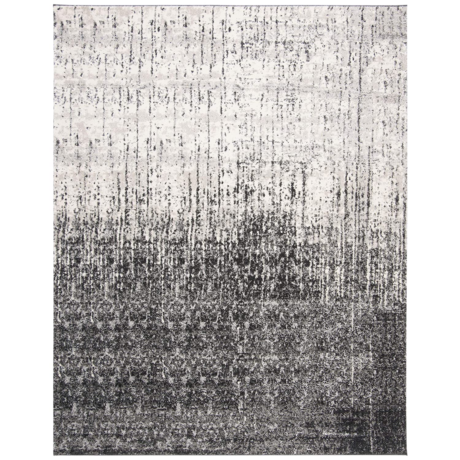 Safavieh Retro Collection RET2770-9079 Modern Abstract Black and Light Grey Square Area Rug RET2770-9079-8SQ 8 Square