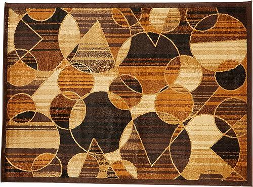Ashley Furniture Signature Design – Calder Medium 5 x7 Rug – Contemporary – Brown Tan Rust