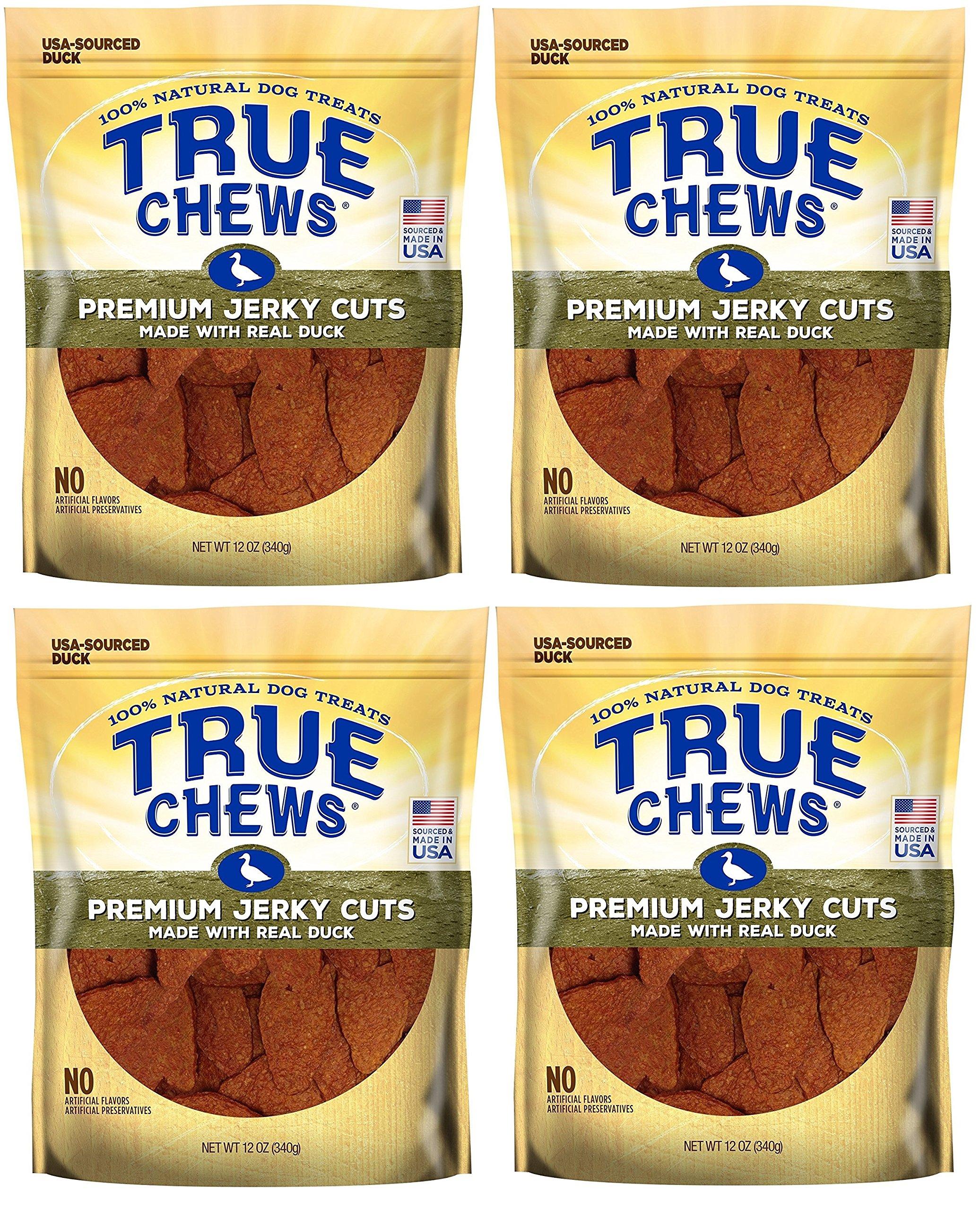 True Chews Dog Treats Premium Duck Jerky 12oz Made in USA (4 Packs) by True Chews (Image #1)