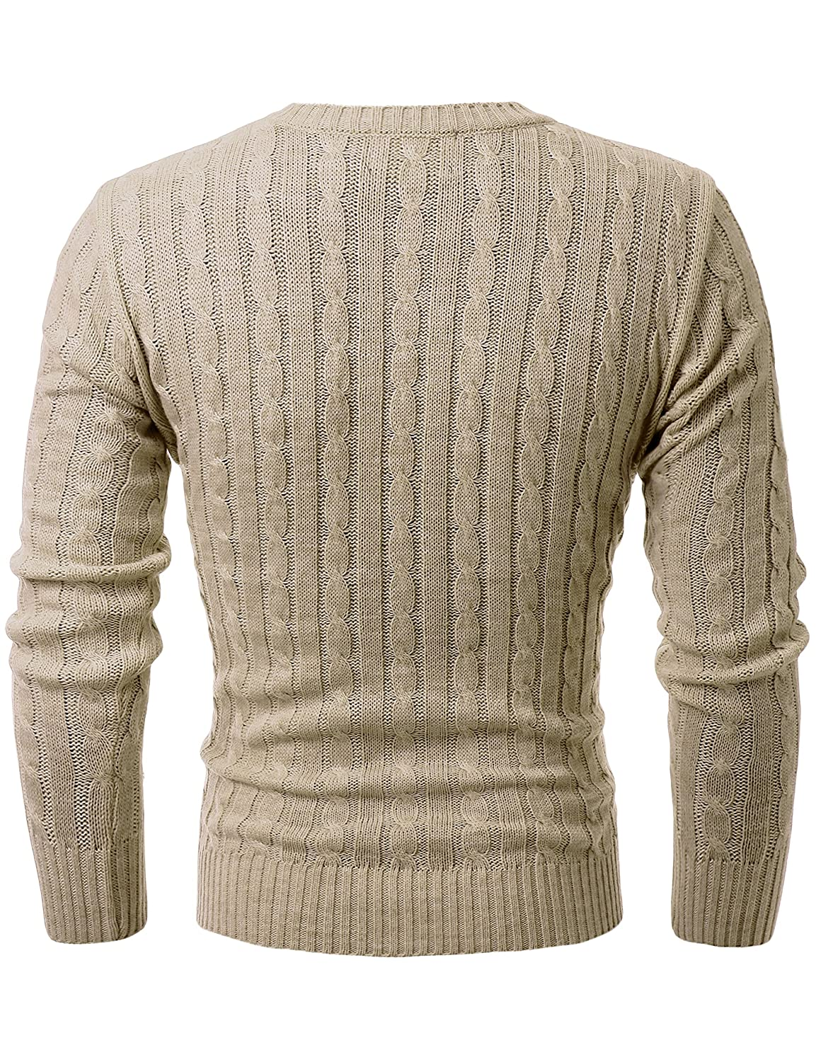 0ca8584174d1f GIVON Mens Slim Fit Cable Knit Long Sleeve Crew-Neck Pullover Sweater at  Amazon Men s Clothing store