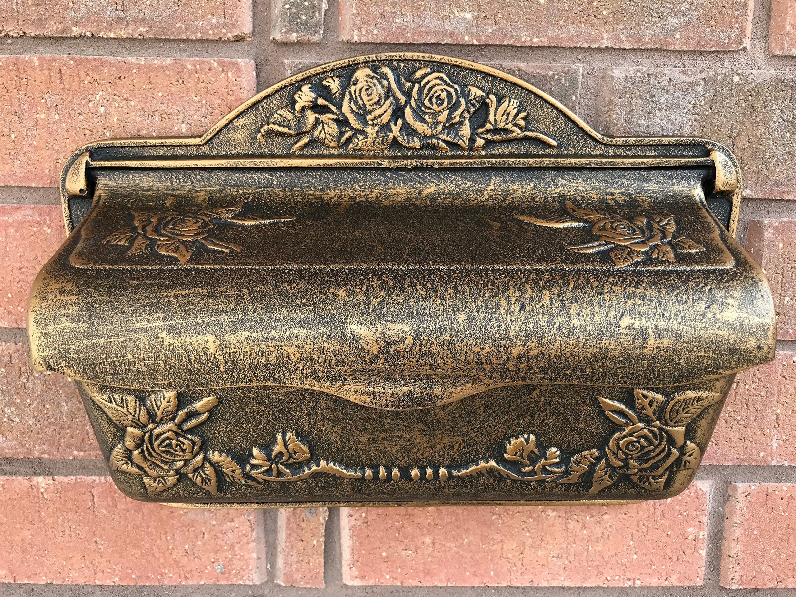 Antique Victorian Style Brown Bronze Color Outdoor Garden Courtyard Villa Personality Upscale Fashion European Outdoor Cast Aluminum Mailbox Postbox Newspaper Holder