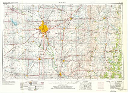Wichita Ks Map Amazon.: YellowMaps Wichita KS topo map, 1:250000 Scale, 1 X 2