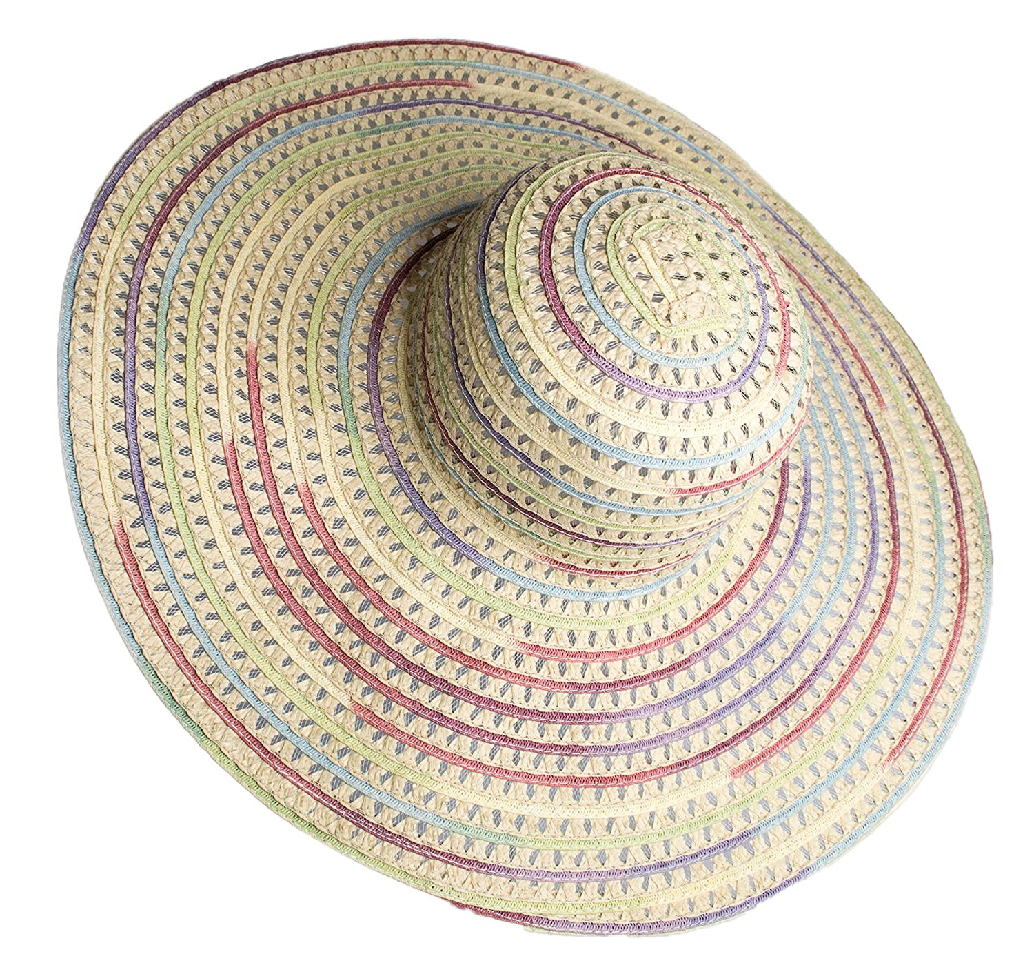 Rising Phoenix Industries Extra Wide Brim Floppy Rainbow Straw Sun Hat for  Women at Amazon Women s Clothing store  4a4948345c0