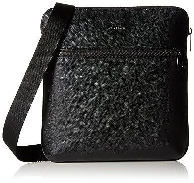 Armani Jeans Men s Saffiano Embossed Medium Shouer Bag, Black ... e214ed63aa
