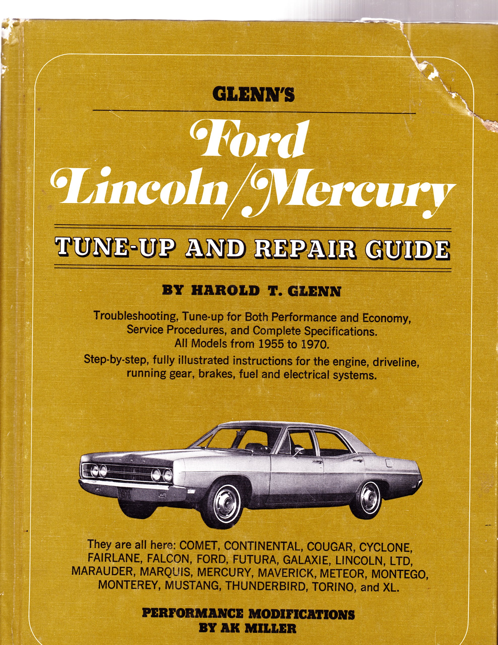 Glenns ford lincoln mercury tune up and repair guide harold t glenn amazon com books
