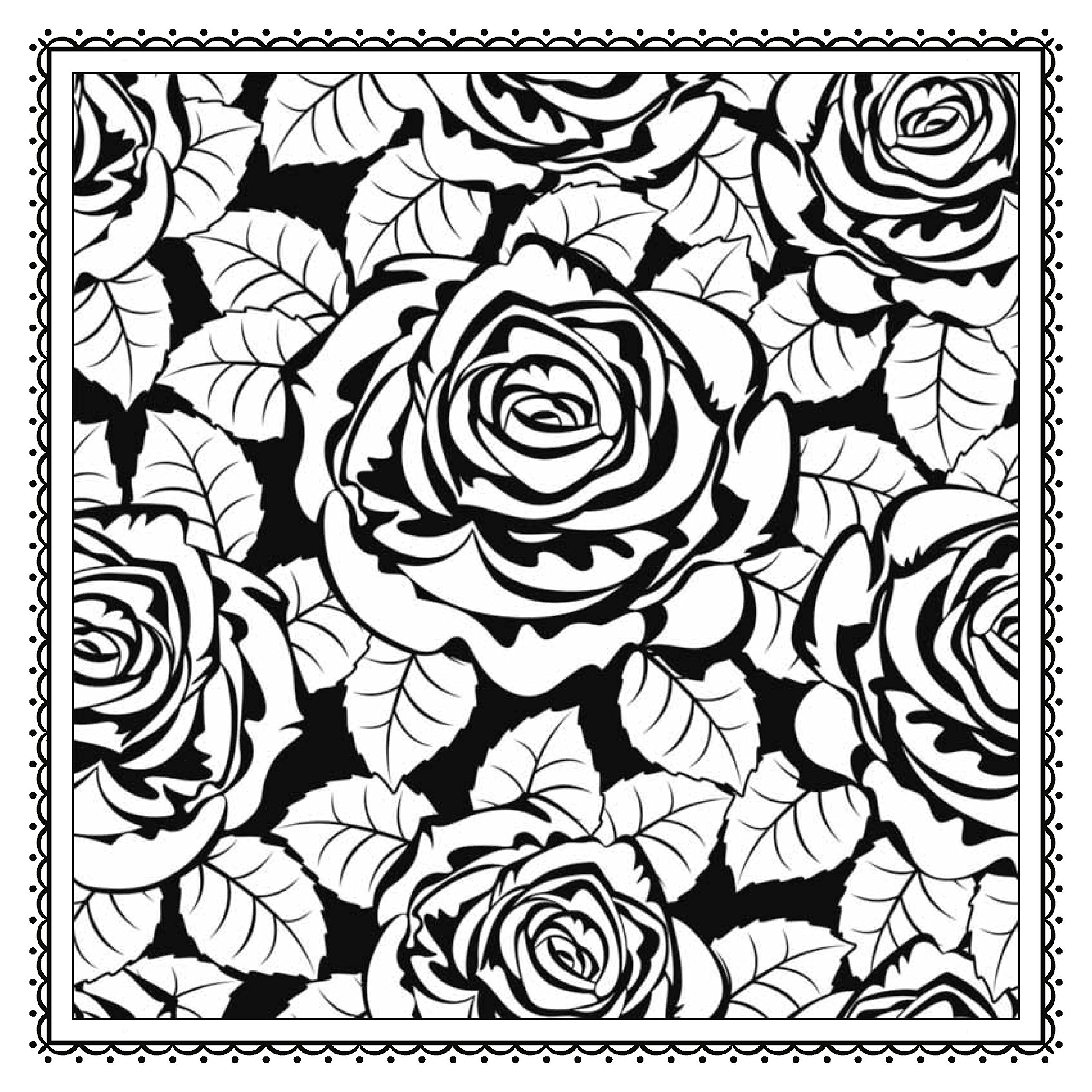 Magic Garden: Fantastic Flowers Coloring Book for Adults (Color ...