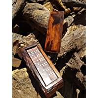 Domino madera de palo fierro   Premium   Artesanal   Jumbo   Juego de mesa   Doble 6   Rustico