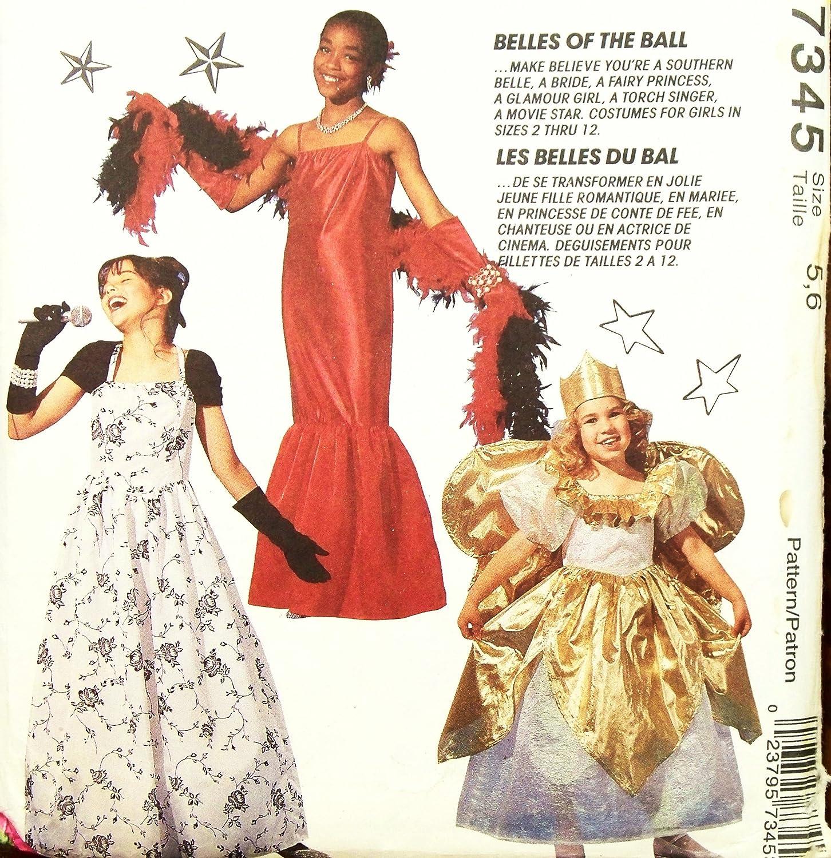 Amazon.com: McCall\'s 7345 Sewing Pattern Girls Costumes Southern ...