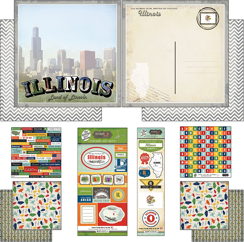 "Reminisce TRAVEL THE WORLD 2/"" x 10/"" Title Sticker scrapbooking VACATION"