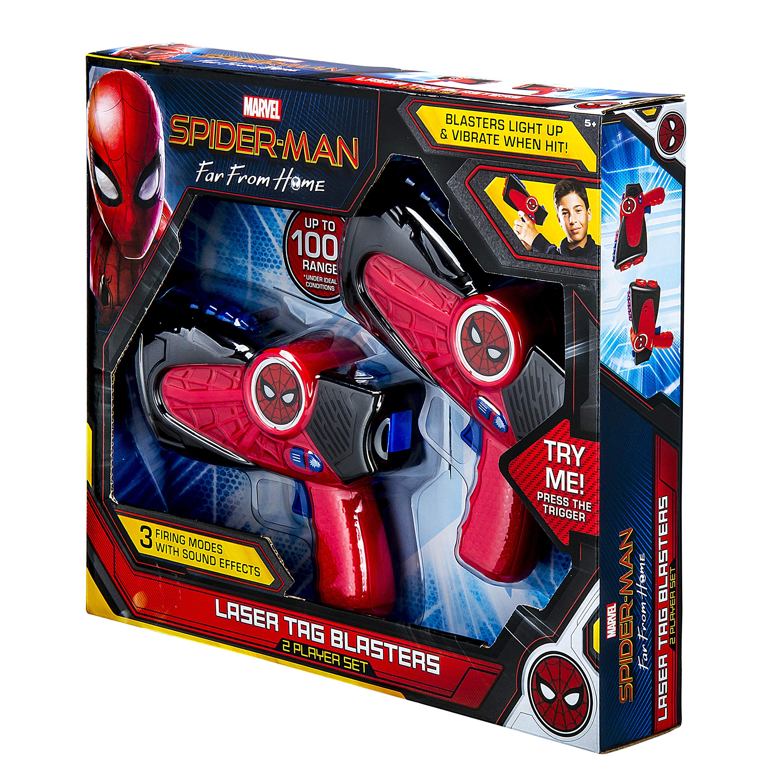 Spiderman Far from Home Laser-Tag for Kids Infared Lazer-Tag Blasters Lights Up & Vibrates When Hit by eKids (Image #8)