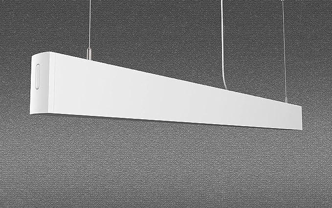 Plafoniera Per Soggiorno Bianco : Lampada led a sospensione azanaz di alluminio plafoniera per