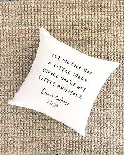 Amazoncom Pillow Cover Baby Quote Gift For Baby Inspirational