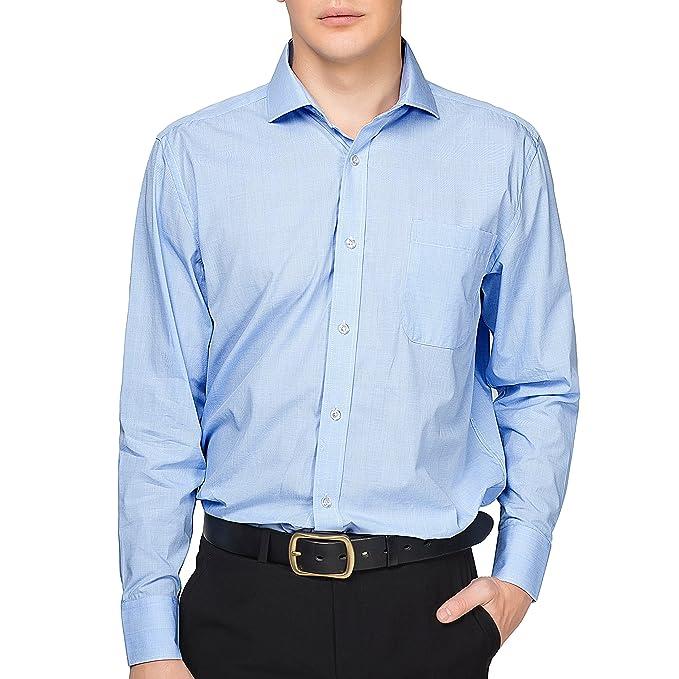 7135400a4f7 Alex Vando Mens Dress Shirts 100% Cotton Regular Fit Long Sleeve Spread  Collar Shirt