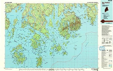 Amazon.com : YellowMaps Bar Harbor ME topo map, 1:100000 ... on east coast maine map, maine county map, bath maine map, kennebunkport maine map, ogunquit maine map, maine hotel map, newagen maine map, brunswick maine map, state of maine map, booth bay maine map, bangor maine map, castine maine map, portland maine map, national harbor map, blue hill maine map, southwest harbor maine map, airports in maine map, mount desert island maine map, acadia national park maine map, bucksport maine map,