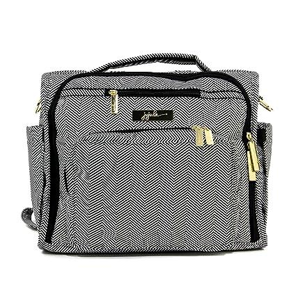 JuJuBe B.F.F Multi-Function Convertible Diaper Backpack Messenger Bag BlackMagic