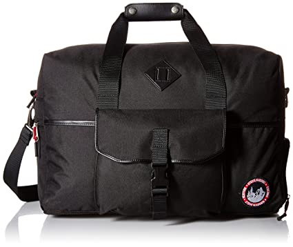 9d1dad29bbd Image Unavailable. Image not available for. Color: Steve Madden Men's  overnighter/Duffle Bag, Deeper Black