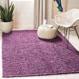 Safavieh Natural Fiber Collection NF447B Hand Woven Purple Jute Area Rug