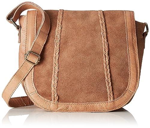 ae3901edf PIECES - Pccameo Leather Cross Over Bag, Shoppers y bolsos de hombro Mujer,  Braun