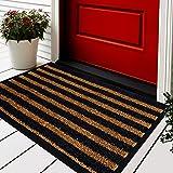 Extra Durable Door Mat - 30x18 Welcome Mats for Front Door - Door Mats for Home Entrance Outdoor - Brown Welcome Mat - Entryw