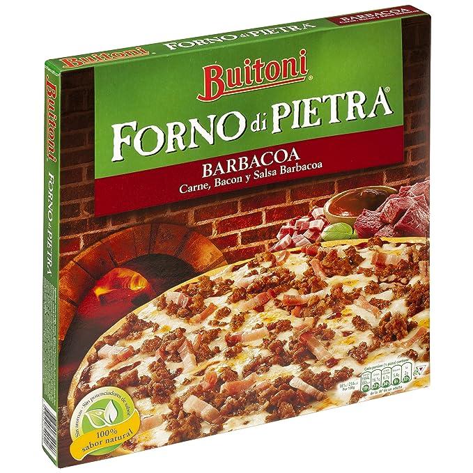 Buitoni Forno di Pietra Barbacoa - Pizza Congelada con carne y bacon y salsa barbacoa - 350 g: Amazon.es: Alimentación y bebidas