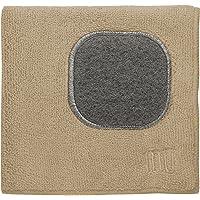 "MUkitchen 12"" x 12"" Microfiber Dishcloth, Flax - Set of 2"