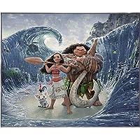 Disney Moana Ocean Friends Kids Room Rug - Large Area Rug Measures 4 x 5 Feet - Features Maui, Pua, HEI HEI (Offical Disney Pixar Product)