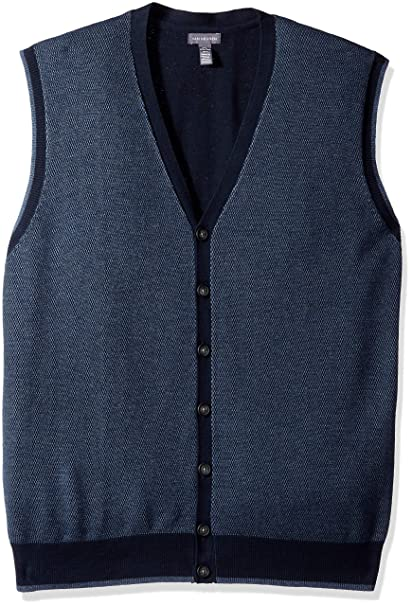 1950s Men's Clothing Van Heusen Mens Big and Tall Button Front Sweater Vest $29.99 AT vintagedancer.com