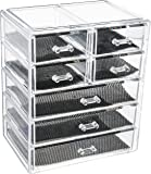 Sodynee Cosmetics Makeup and Jewelry Storage Organizer Case Display Boxes, 3 Large and 4 Small Drawers