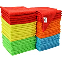 "S&T Bulk Microfiber Kitchen, House, & Car Cleaning Cloths - 50 Pack, 11.5"" x 11.5"""