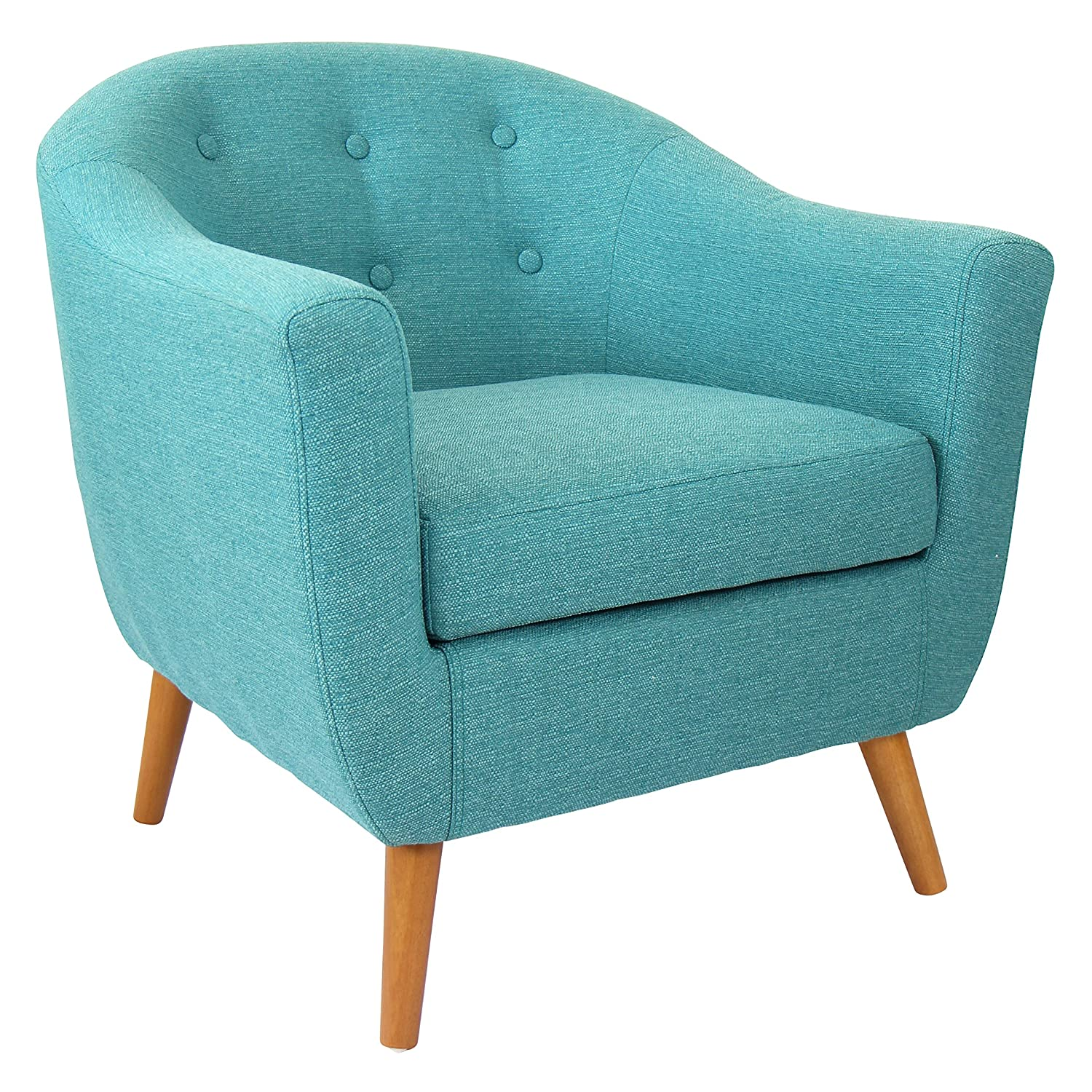 Lumisource Rockwell Chair, Teal - Amazon.com: Chairs - Living Room Furniture: Home & Kitchen