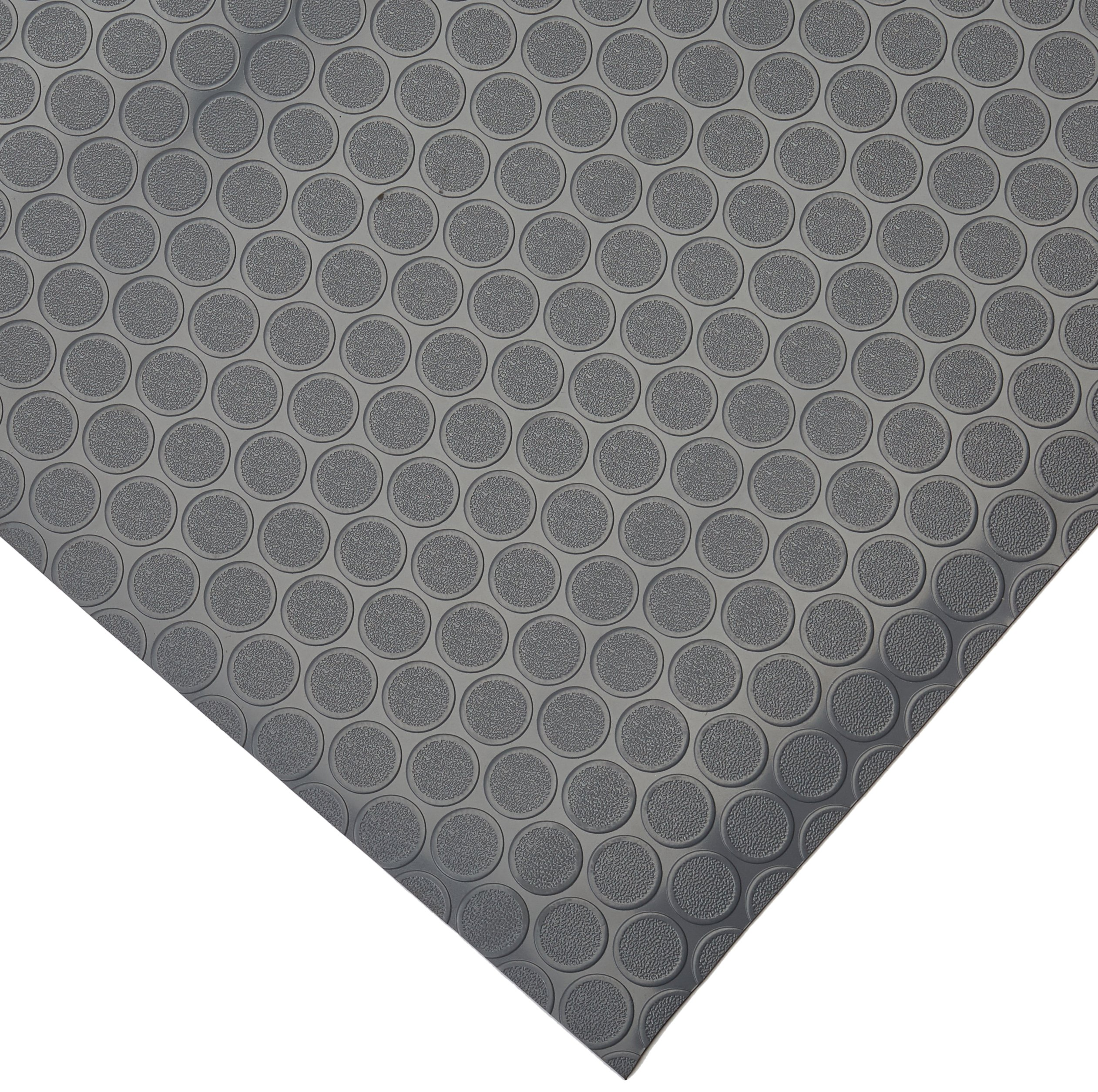 Rubber-Cal Coin-Grip Flooring and Rolling Mat, Dark Grey, 2mm x 4 x 12-Feet by Rubber-Cal