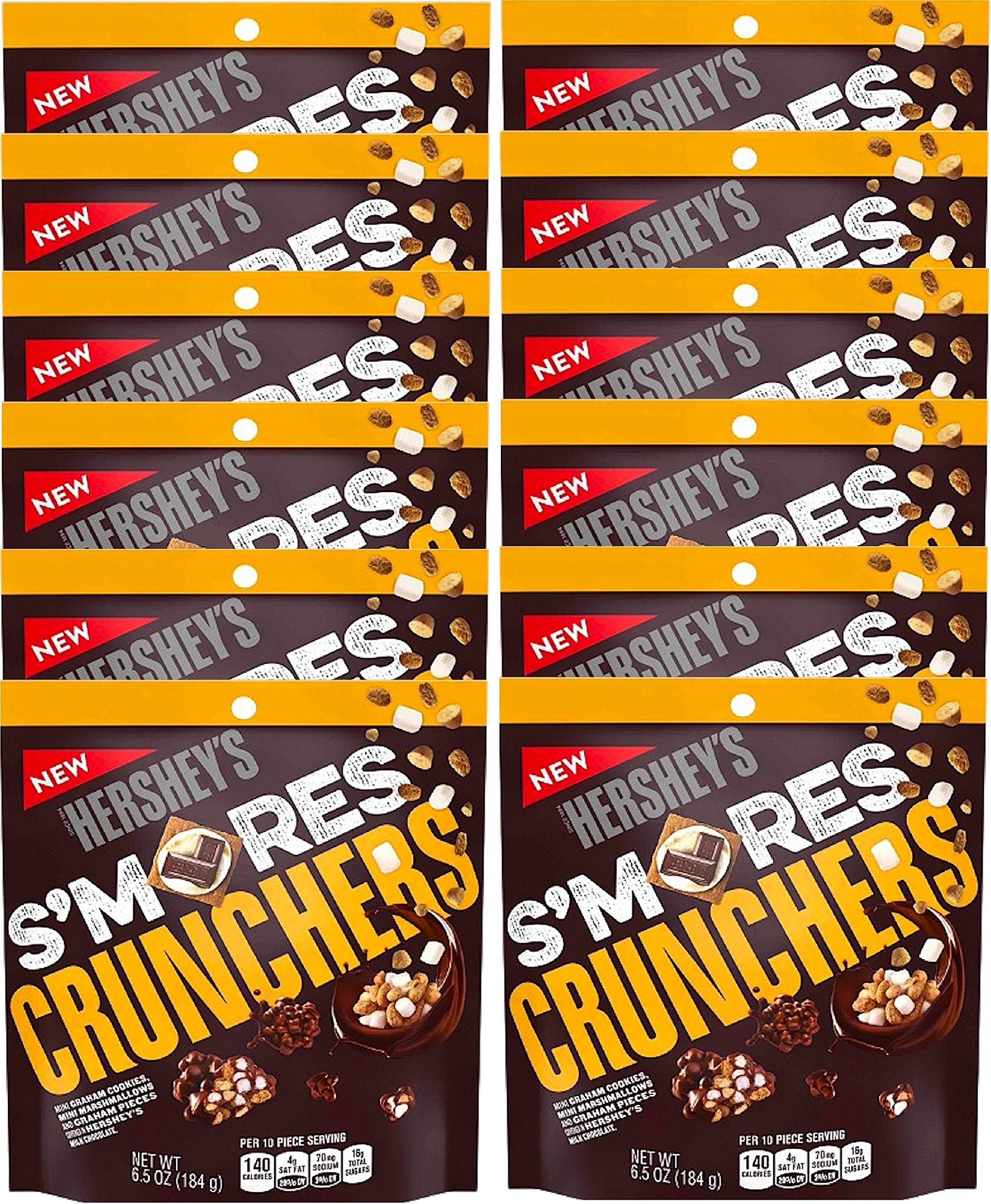 NEW Hershey's S'mores Crunchers Mini Graham Cookies Mini Marshmallows Covered In Hershey's Chocolate Heaven- 6.5oz (12)