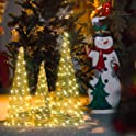 3-Pack Varmax Christmas Decoration Prelit Christmas Tree