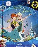Set Of 2 Toddler Girls Wooden Disney Princess / Frozen 9 Piece Jigsaw Puzzles