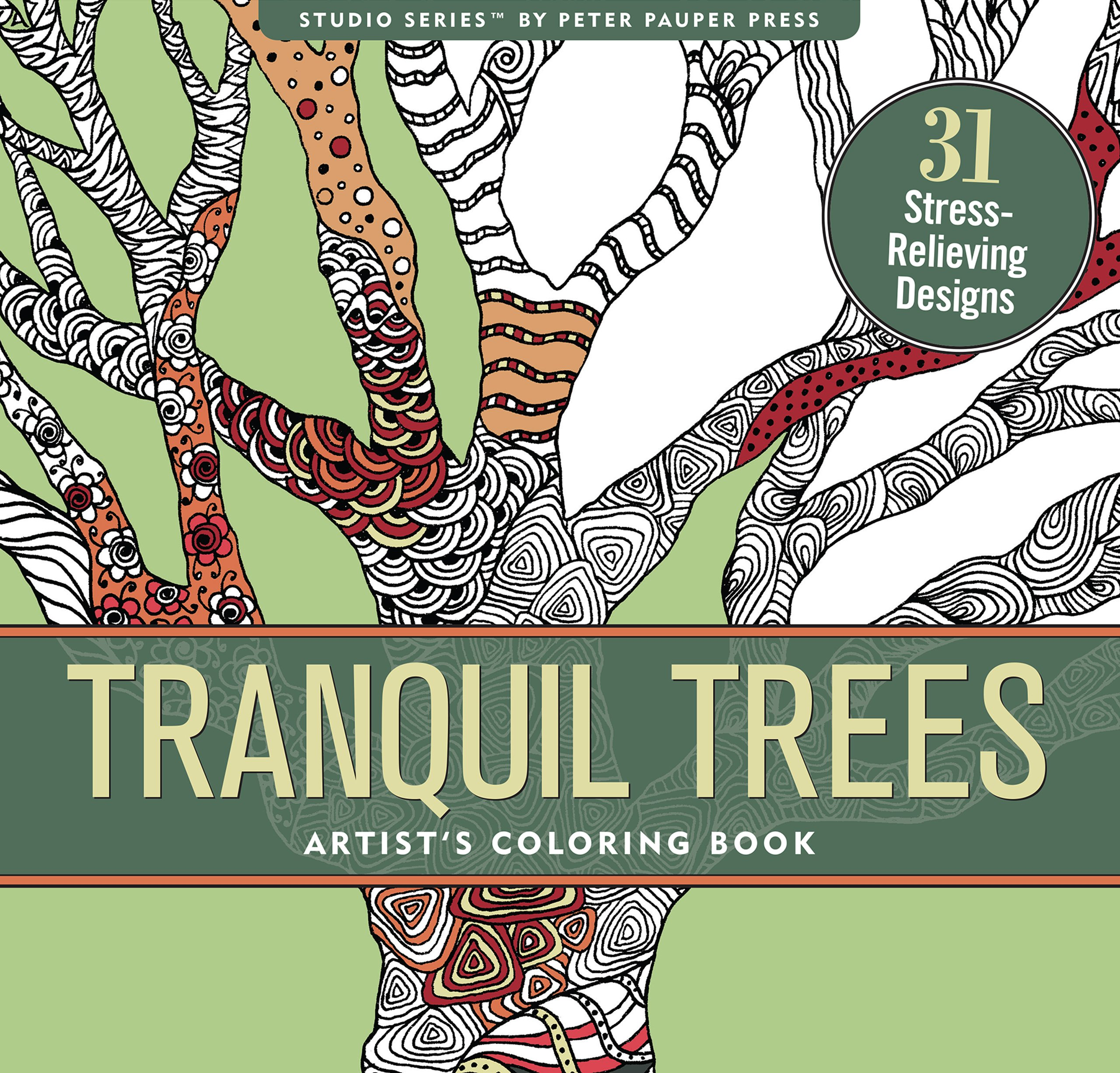 Tranquil Coloring stress relieving designs Artists