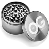 The OG Spice Herb Grinder with Pollen Catcher (2.5 Inch) Herbal, Tobacco, Weed | Compact Kitchen Cooking Accessory | Zinc Alloy Metal, Ultra-Sharp Grinding Teeth