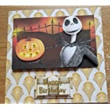 Handmade Nightmare before Christmas Inspired Birthday Card - Smile