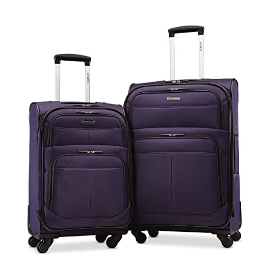 "Samsonite Upspin Lightweight Softside Set (21""/25""), Only at Amazon, Space Blue"