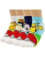 JJMax Japanese Animation Collection Socks Anime Pokemon Pikachu