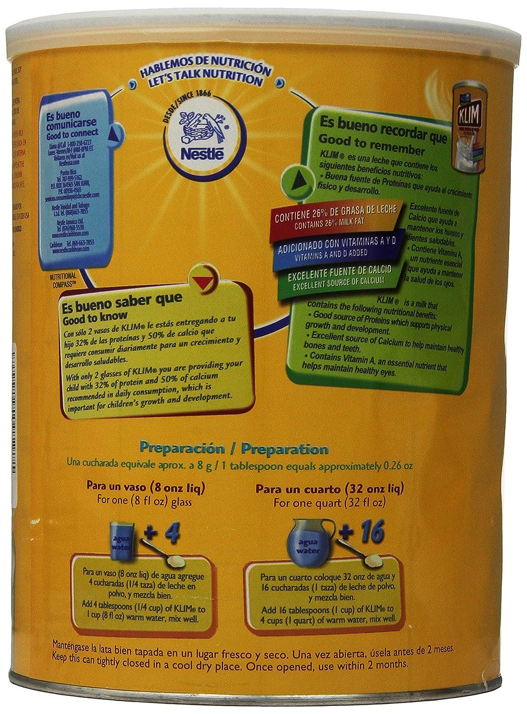Amazon.com : Klim Full Cream Milk Powder, 3.52 Pound : Grocery & Gourmet Food