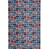 Mylife Rugs Biella Collection Contemporary Modern Non Slip (Non-Skid) Machine Washable Area Rug (4'x6', Multicolor)