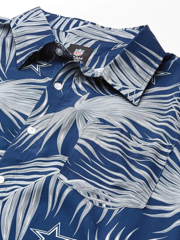 FOCO NFL Mens Floral Button Up Shirt