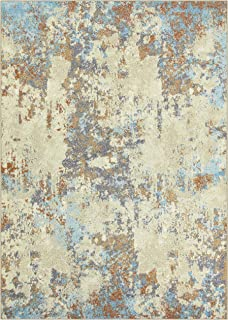 product image for Maples Rugs Southwestern Stone Distressed Abstract Area Rugs Carpet for Living Room & Bedroom [Made in USA], 5 x 7, Multi
