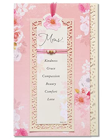 Amazon american greetings moms mothers day card with keepsake american greetings moms mothers day card with keepsake bookmark 5856831 m4hsunfo