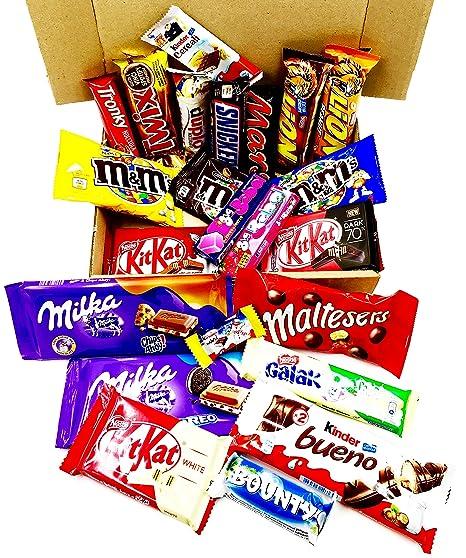 Paquete De Barras De Aperitivos Surtidos Chocolate Cacahuete Idea De