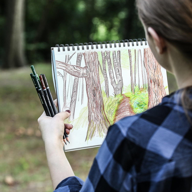 per adulti e bambini Colore Matite colorate 48 colori Ideali per la scuola Set di 48 pastelli pre-temperati di alta qualit/à per disegnare e colorare